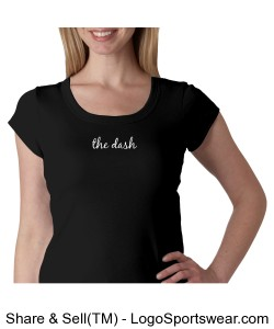 Ladies 1 X 1 Rib Scoop Neck Cap Sleeve Tee Design Zoom